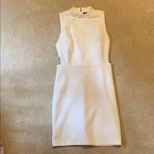 White forever21 dress with cutouts size small